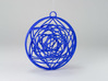 Stained Glass Ornament 3d printed Printed in Royal Blue