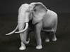 African Bush Elephant 1:87 Walking Male 3d printed