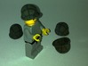 4 Us marine WWII Helmet for lego figurine ALREADY 3d printed