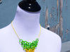 Green/Yellow Gradient Mesh Pendant 3d printed