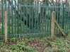 Concrete Fence Posts 3d printed The prototype photographed just outside Penistone station