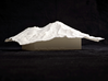 6'' Mt. Shasta Terrain Model, California, USA 3d printed View of 150mm model of Shasta from Dunsmuir, CA