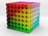 LAB Color Cube: 1 inch 3d printed