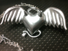 Evil Angel Heart Pendant 3d printed