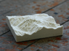 3''/7.5cm Mt. Blanc, France/Italy, Sandstone 3d printed