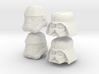 Starwars lego heads 3d printed