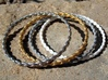 Braid bangle 3d printed Printed in silver glossy, gold plated glossy, alumide, and white strong and flexible