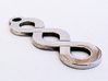 Double Infinity Pendant 3d printed Flat Finish Side