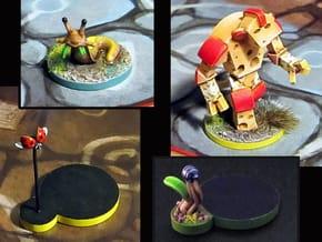 Cheese Golem, Ladybug, 4 Slugs, Doodlebug - M&M in Smooth Fine Detail Plastic