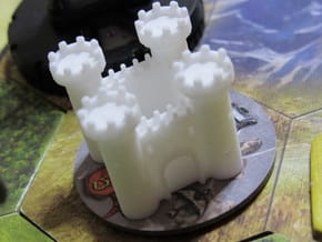 Fortress - Low Poly in White Natural Versatile Plastic