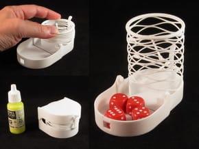 Mini Dice Tower, foldable in White Natural Versatile Plastic