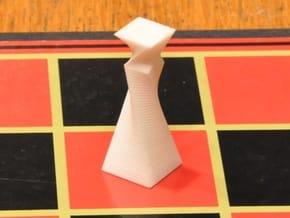 90 Degree Twist Chess Set in White Natural Versatile Plastic