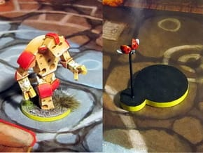 Cheese Golem & Ladybug - Mice & Mystics in Smooth Fine Detail Plastic