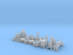 Capital Set (Smaller) in Smooth Fine Detail Plastic
