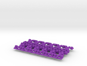 F1 2009-2013 20mm scale in Purple Processed Versatile Plastic