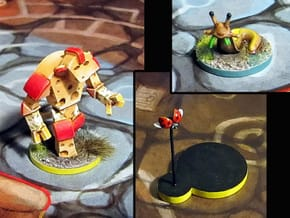 Cheese Golem, Ladybug, 4 Slugs - Mice & Mystics in Smooth Fine Detail Plastic