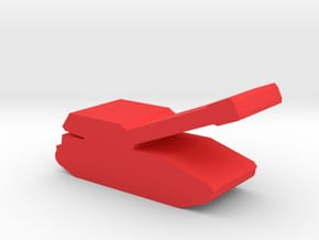 Game Piece, Red Force Gvozdika Artillery in Red Processed Versatile Plastic