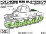 ETS35001 Hotchkiss H39 running gear + engine hatch