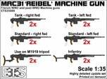 ETS35009 Reibel Machine Gun - 6 types, 2 of each
