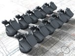 1/350 Twin 20mm Oerlikon Powered MKV Mount x10