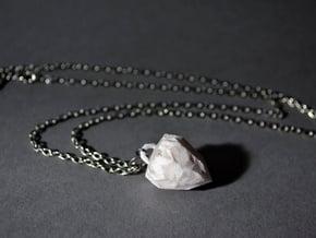 Crystal Pendant in White Natural Versatile Plastic