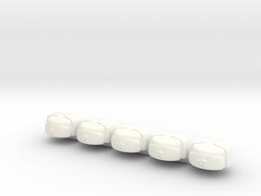 5 x Russian Winter Cap  in White Processed Versatile Plastic