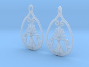 Art Nouveau Goddess of Progress Earrings in Smooth Fine Detail Plastic