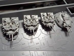 STAR DESTROYER ZVESDA DEVASTATOR TURRETS in Smooth Fine Detail Plastic