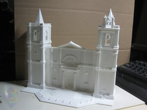 St John Co Cathedral Facade in White Natural Versatile Plastic
