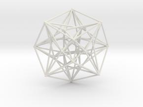 4D Vector Equilibrium Metatron's Compass 50mm -  in White Natural Versatile Plastic