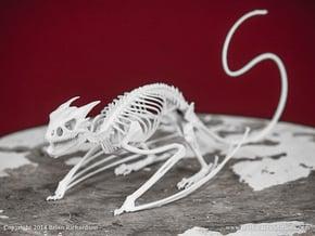 Horned Wyvern Skeleton in White Natural Versatile Plastic