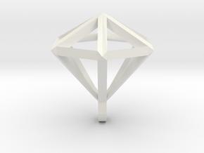 Diamant pendant in White Natural Versatile Plastic