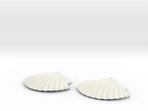 Concha earrings in White Natural Versatile Plastic