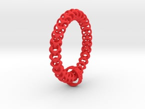 Cubichain Bracelet (Multiple sizes) in Red Processed Versatile Plastic: Extra Small