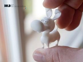 Puppy toy 4 cm in White Processed Versatile Plastic
