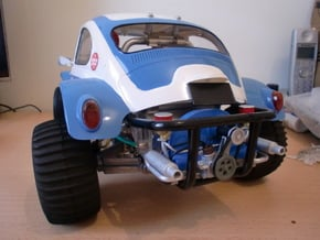 Scale engine replica for tamiya sand scorcher and  in White Processed Versatile Plastic