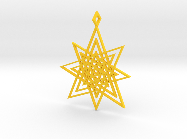 Endless Star in Yellow Processed Versatile Plastic