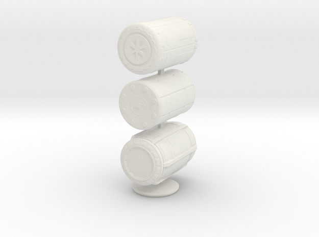 1:20 Barrel set  in White Natural Versatile Plastic