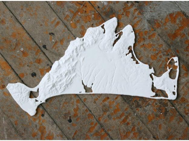 Martha's Vineyard, MA, 19'' - Navigator Series in White Natural Versatile Plastic