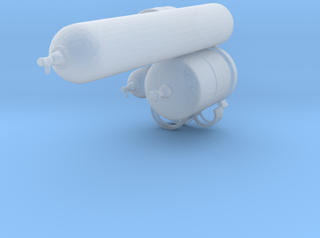 1:64 Gas canisters in Smoothest Fine Detail Plastic
