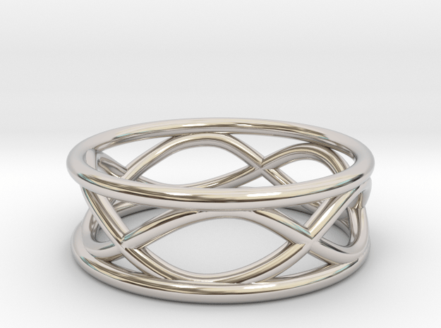 Infinity Ring- Size 7 in Rhodium Plated Brass