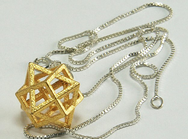 Oct Hex 20 in Polished Gold Steel