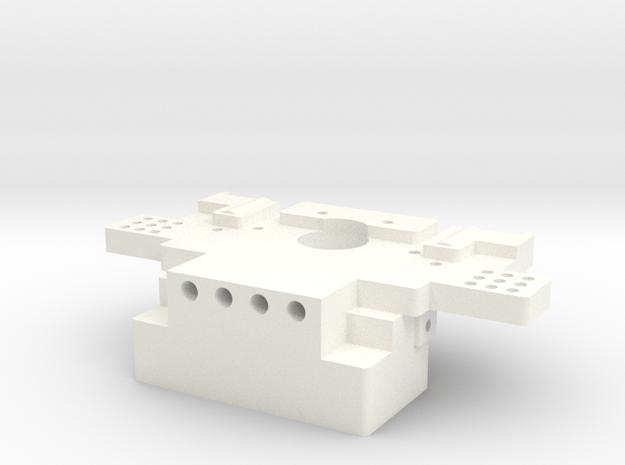 1/5 Scale Rear Bulkhead in White Processed Versatile Plastic