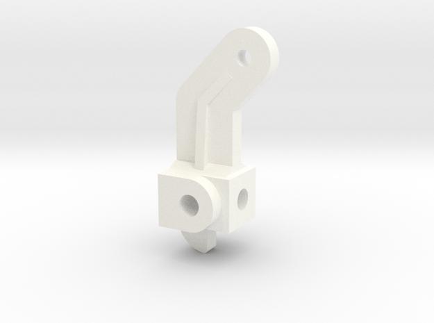 Steering Spindle, Inline in White Processed Versatile Plastic