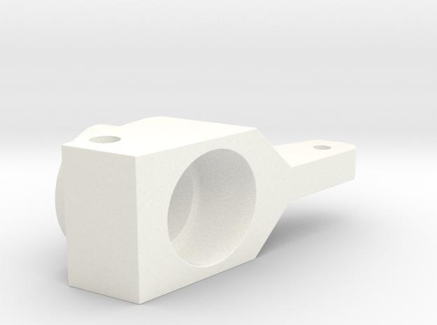 RC10 REAR HUB, 0 DEG in White Processed Versatile Plastic