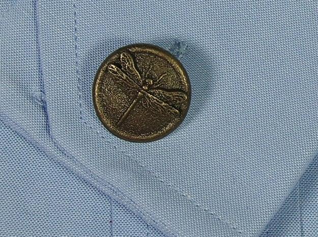 Dragonfly Cufflinks in Polished Bronzed Silver Steel