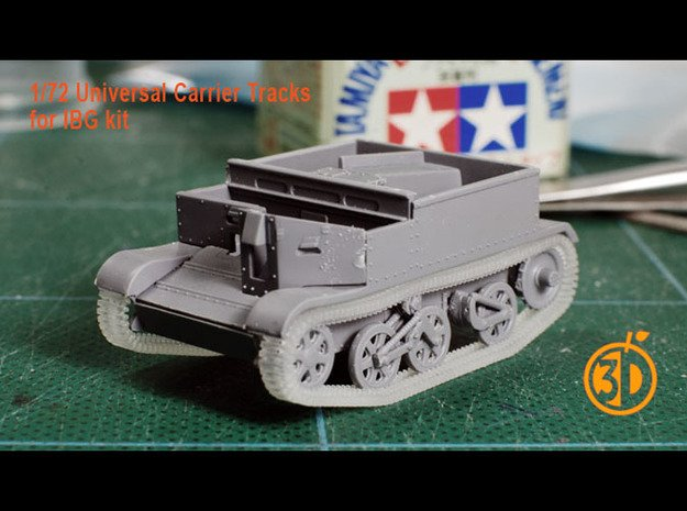 2 pairs of BrenCarrier Tracks for 1/72 scale IBG m in Smooth Fine Detail Plastic
