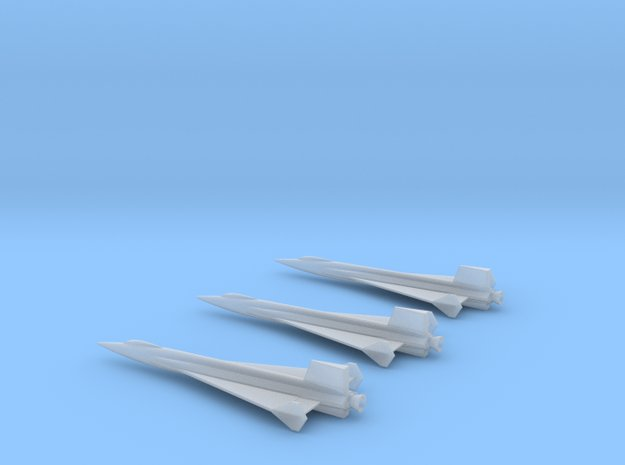 1/285 NAA X-15 DELTA WING ROCKET PLANE (3) in Smoothest Fine Detail Plastic
