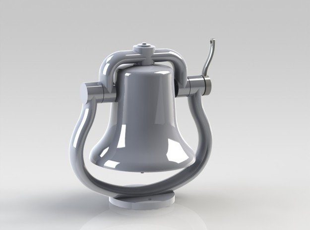 Bell with clapper 1:8 in White Natural Versatile Plastic