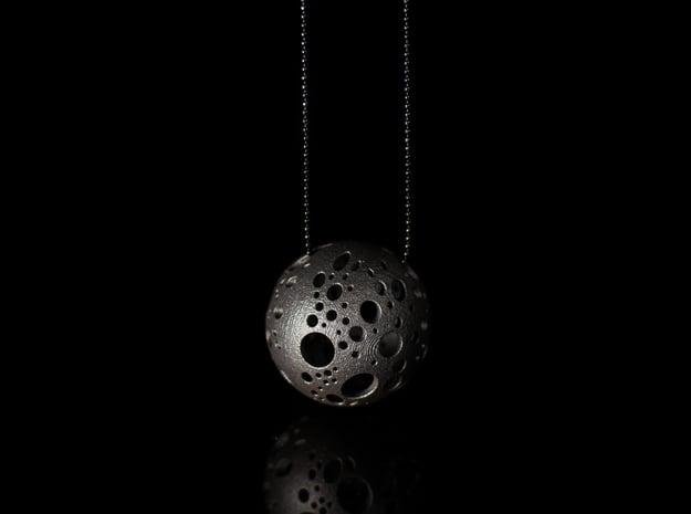 'MOON NECK' - Ø 40 in Matte Black Steel